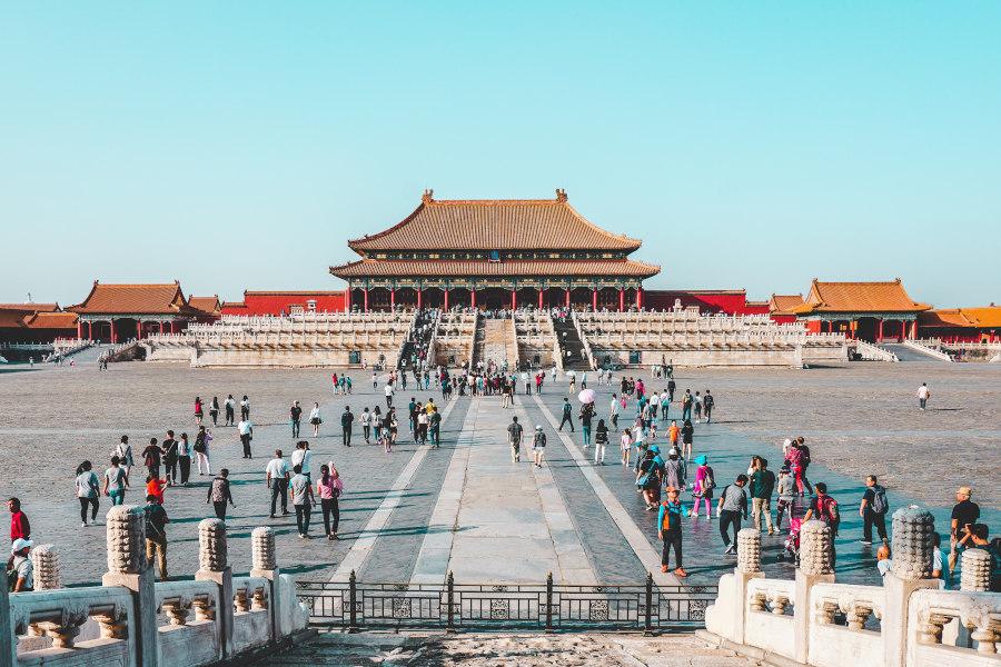 Zakazane miasto w Chinach i turyści ubezpieczenia-lodz.com